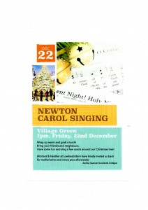 Newton Carol singing